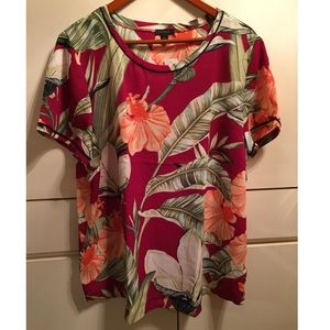 FLORAL PALMS TOP - SIZE 2X... NEW NEW WITH TAGS